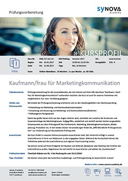 Kursprofil KMK Kaufmann Kauffrau Marketingkommunikation