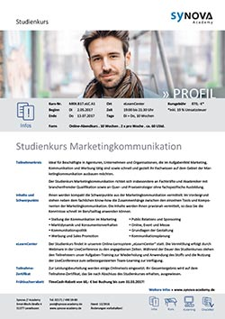 Studienkurs Marketingkommunikation